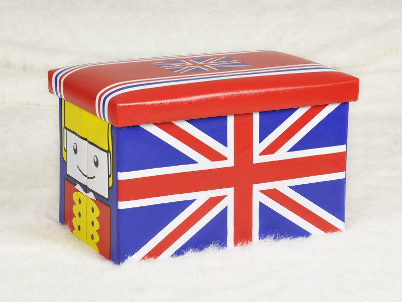 Kids Shoe Changing Stool - UK flag