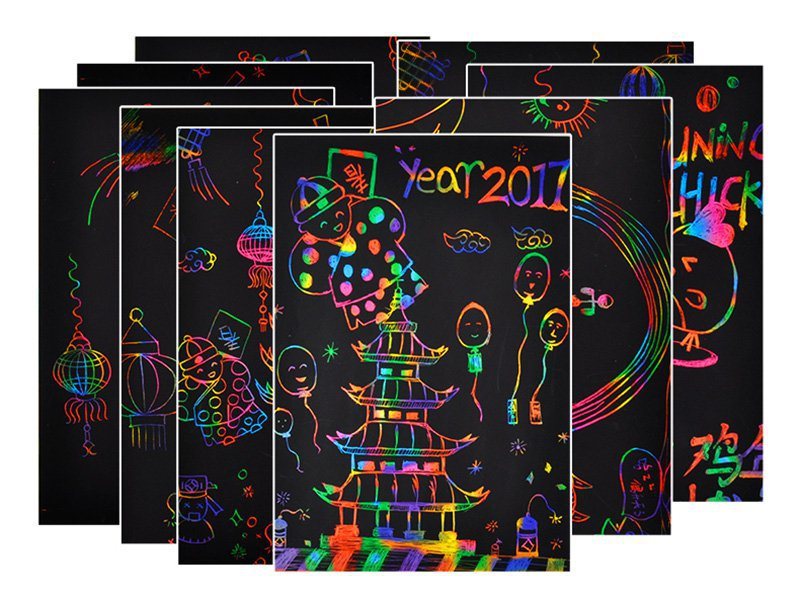 Rainbow Scratch Paper – 50pc