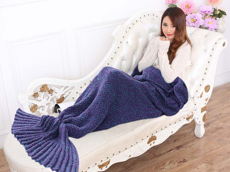 Premium Mermaid Tail Blanket - Purple