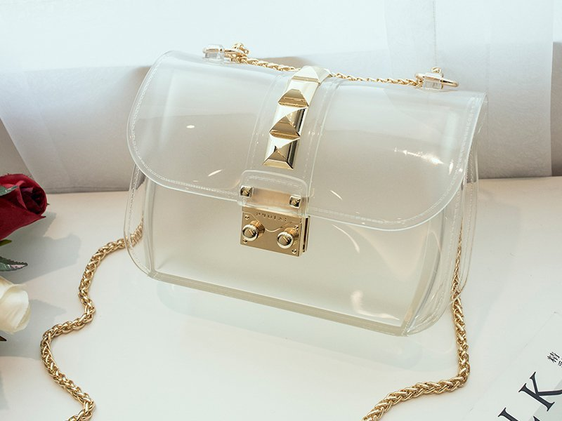 Designer Crossbody Jelly Bag - Transparent