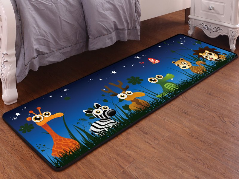 Kids Carpet Mat - 6 Small Animals