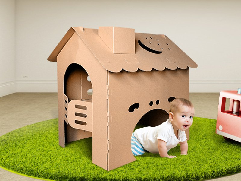 Corrugated Playhouse – For Kids