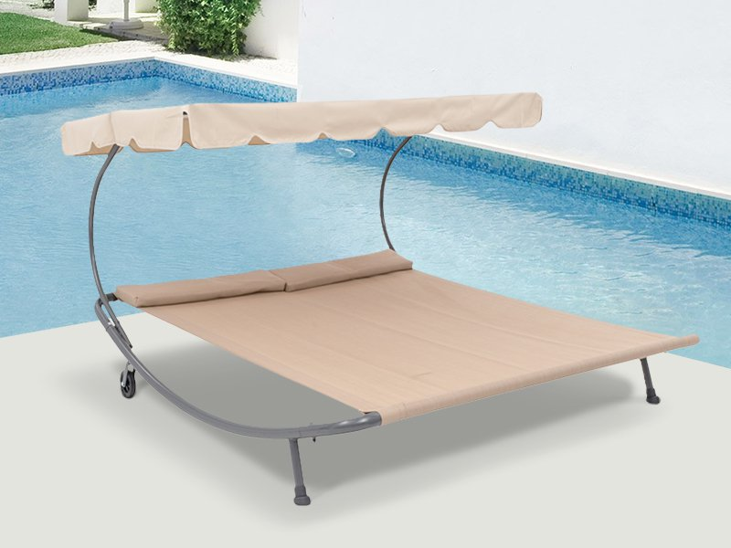 Sunbed Hammock with cover/wheels and foot support