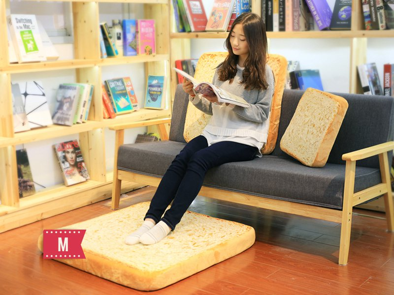 Toast slice cushion - Medium