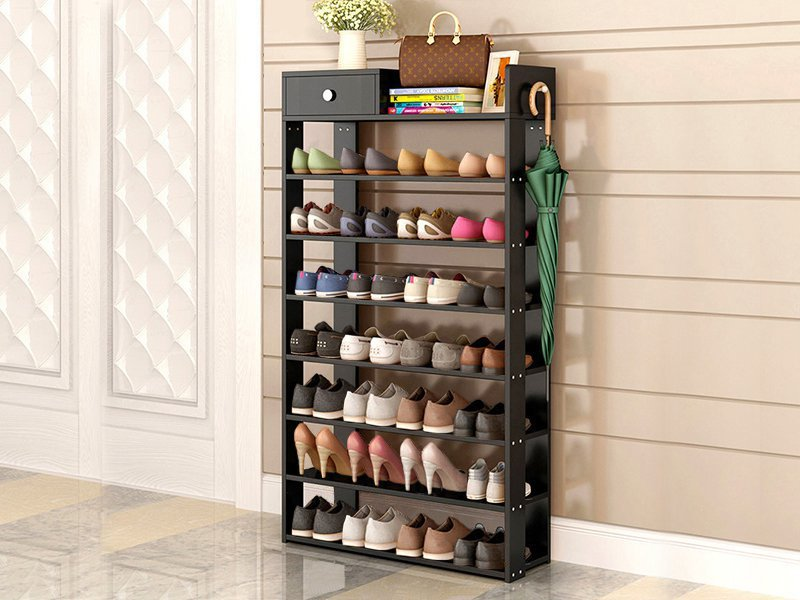 8 Level Wooden Shoe Rack