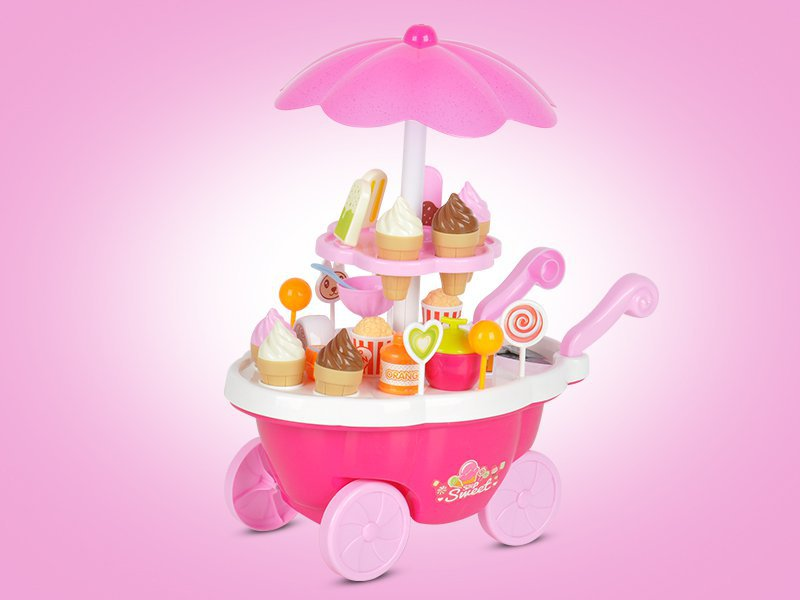 39pc Electric Ice Cream Cart Toy