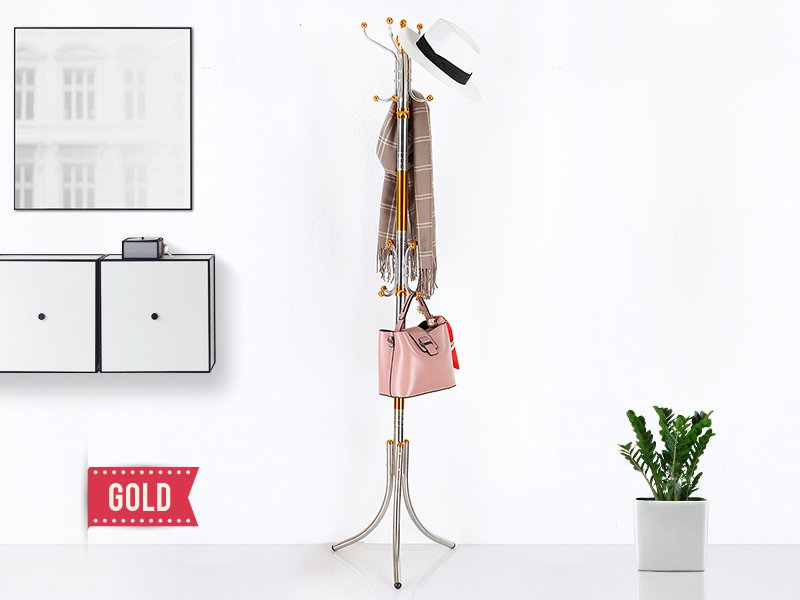 Stainless Steel Coat Stand - Gold