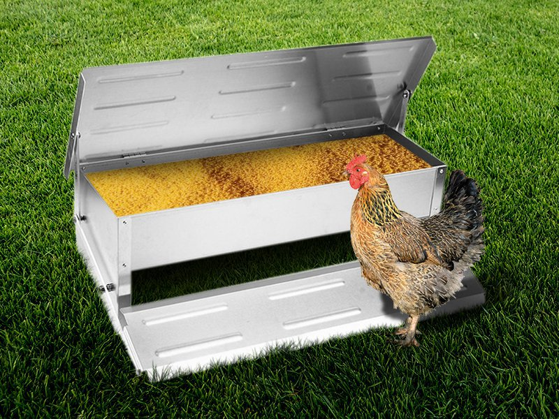 20.6L Giant Aluminium Chicken Feeder