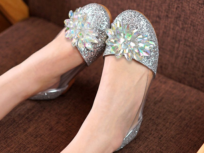Crystal Party Shoes for Girls
