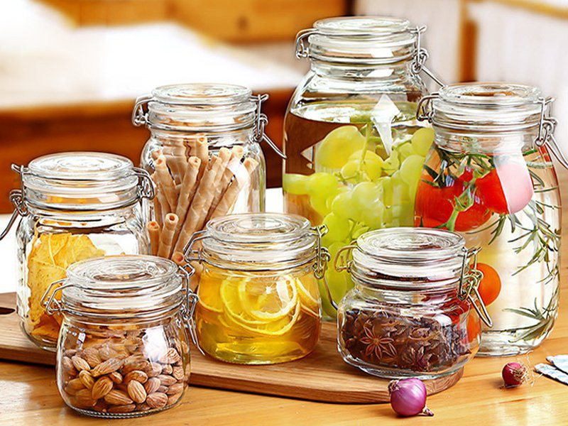 7pc Air Tight Glass Jars