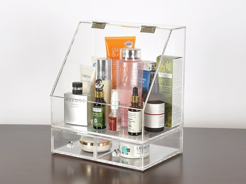 Clamshell Make-Up Organiser Cosmetics Storage Box