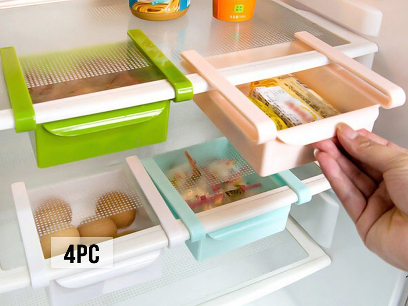 4Pc Slide Kitchen Fridge Space Saver