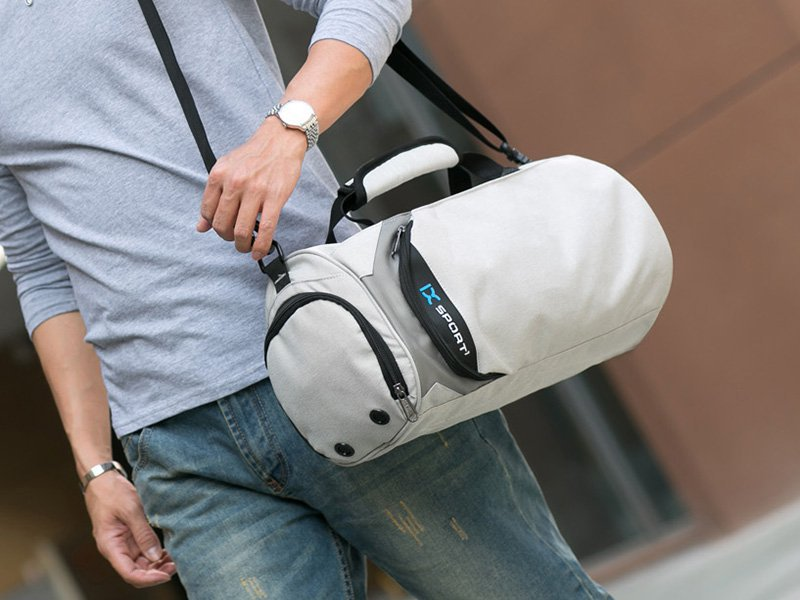 Water-Resistant Duffel Bag with Shoe Storage