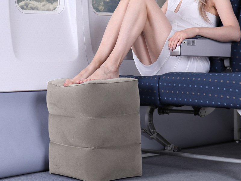 Inflatable Travel Footrest Cushion