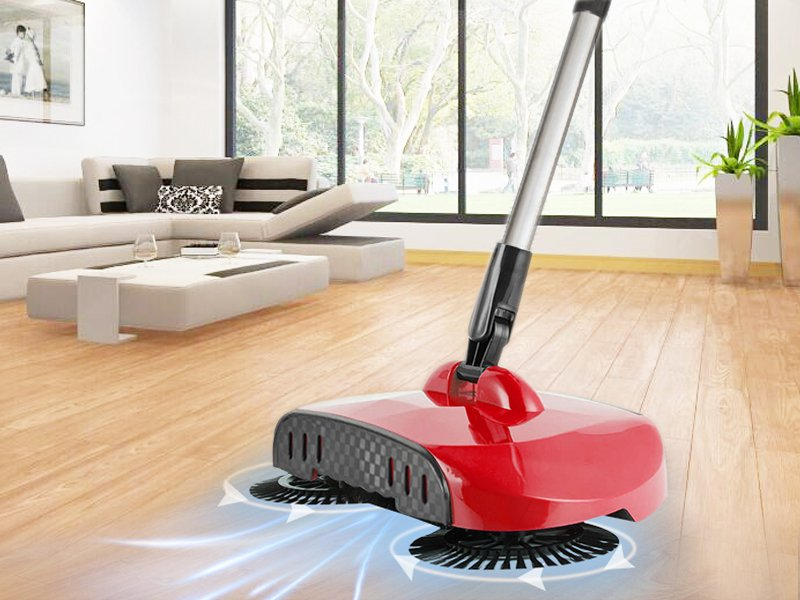 Hand Push Sweeper Spinning Broom