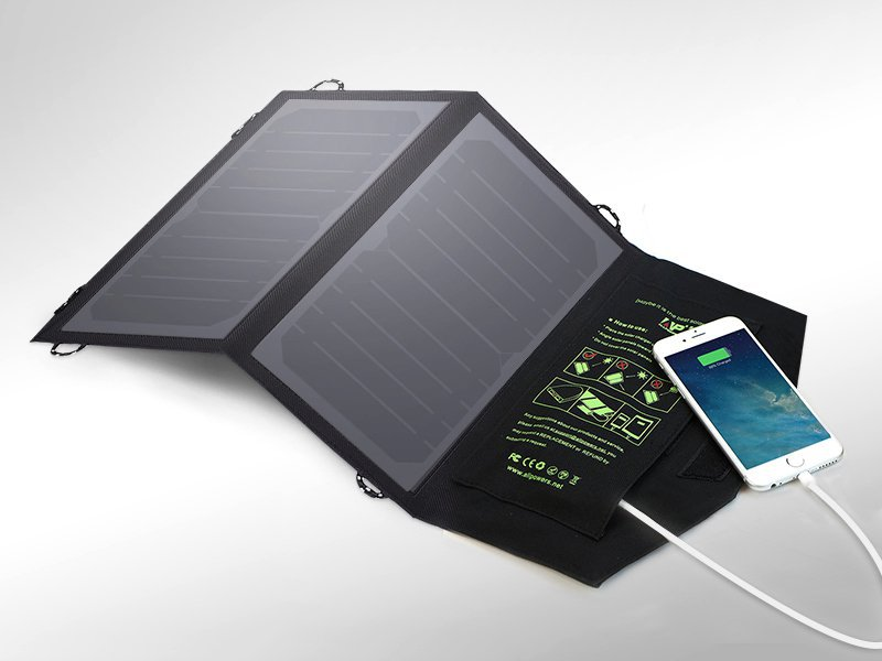 10W Folding Solar USB Power Charger Panel