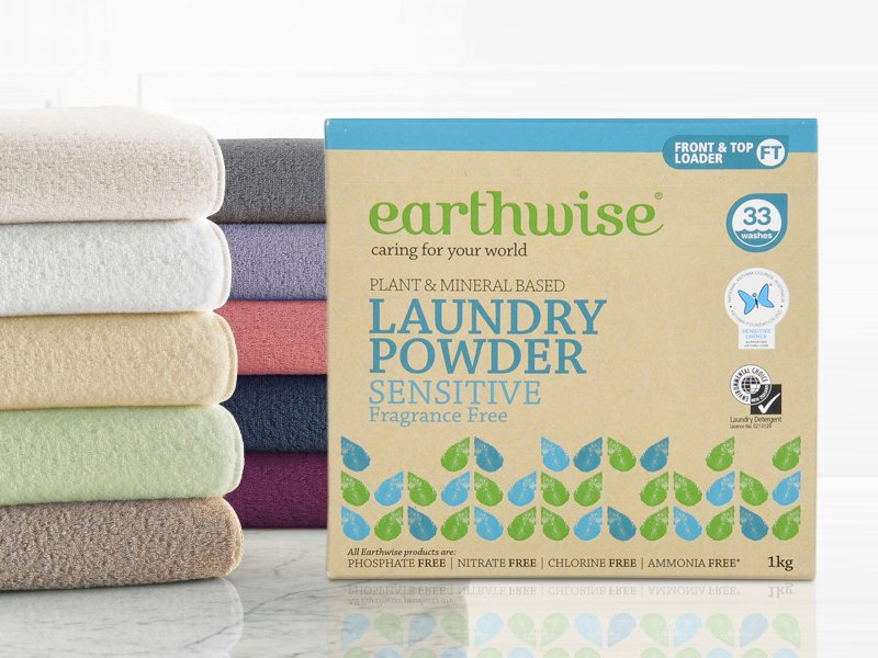 Earthwise Laundry Powder Fragrance Free 1KG