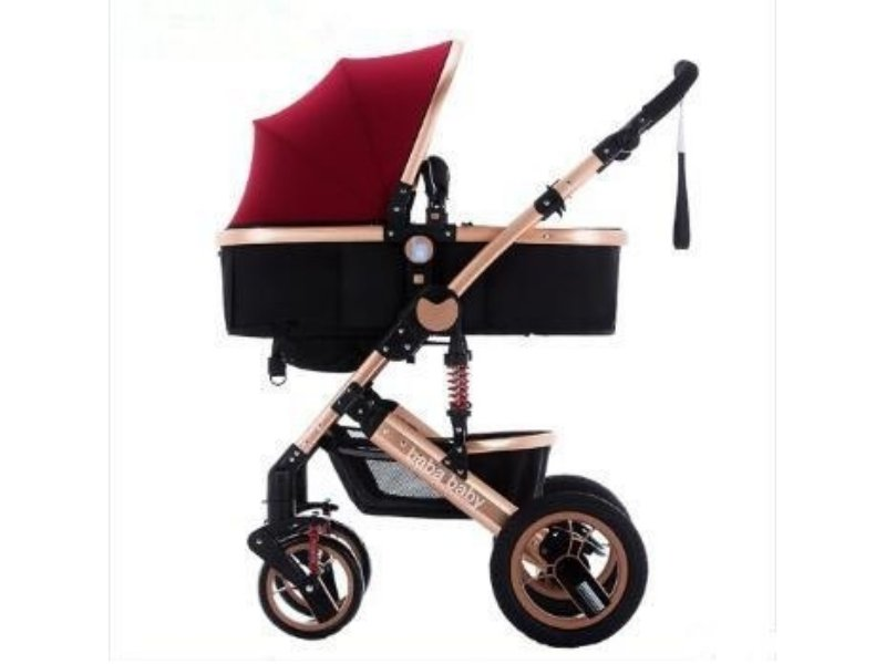 3 in 1 Stroller with Infant Capsule - Ruby Red