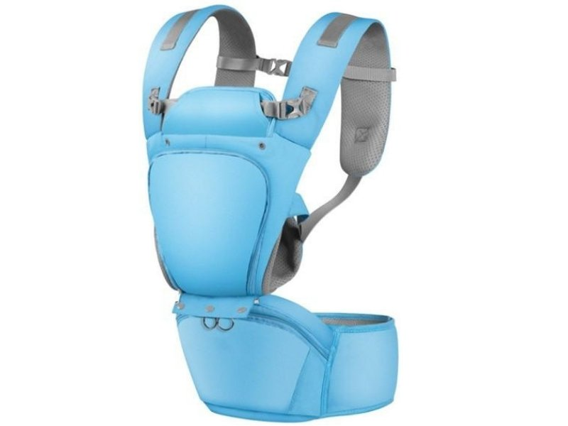 All in 1 Baby Hip Seat Carrier-Denim Blue