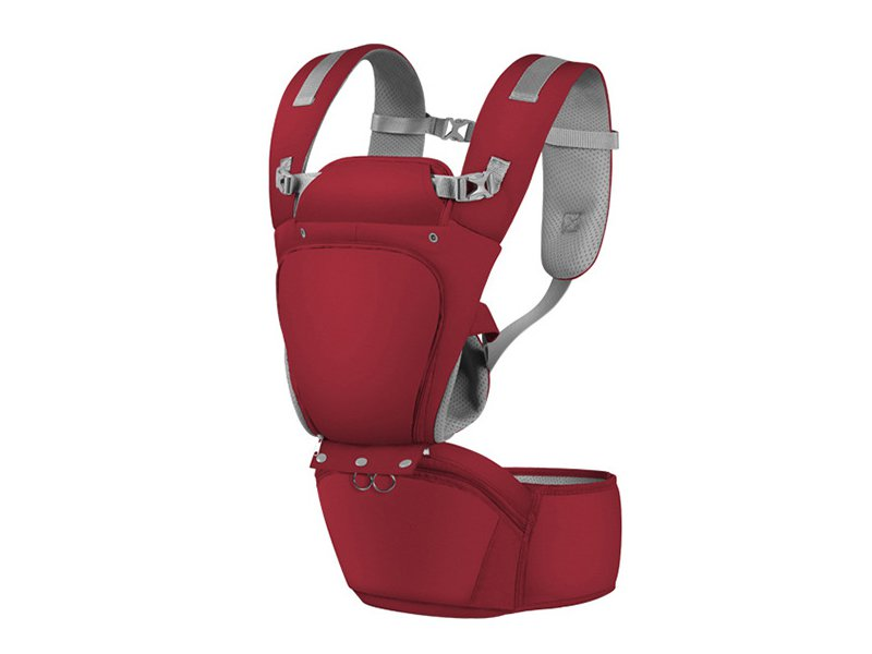 BabaBaby Hip Seat Carrier - Ruby Red