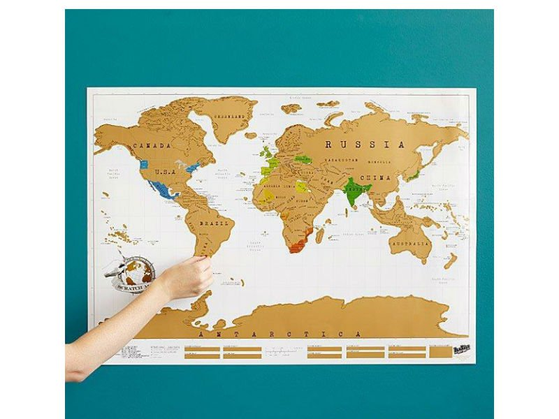 Scratch Off World Map With Packaging