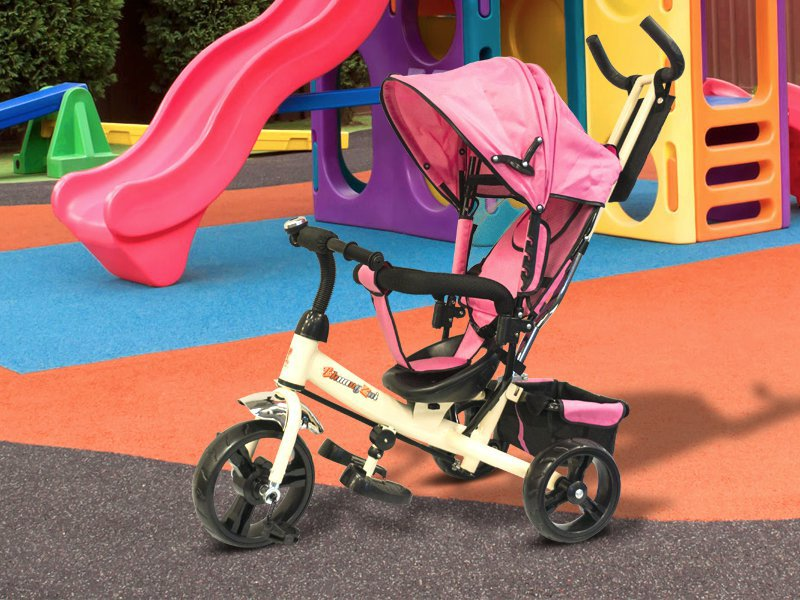 Kids Tricycle with Parent Control - Pink