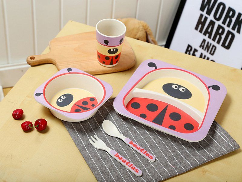 Bamboo Fiber Kids Tableware - Beetle