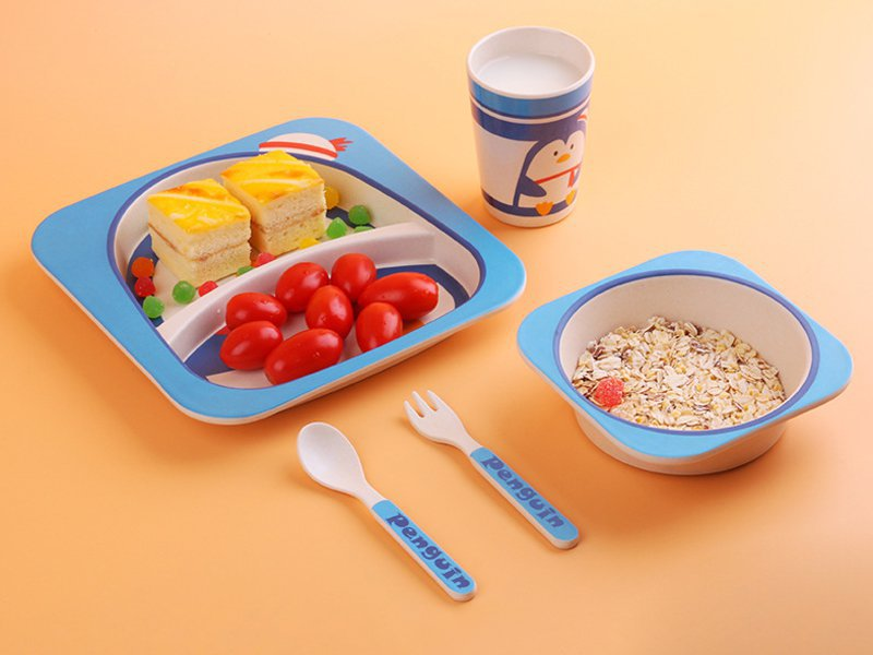 Bamboo Fiber Kids Tableware - Penguin