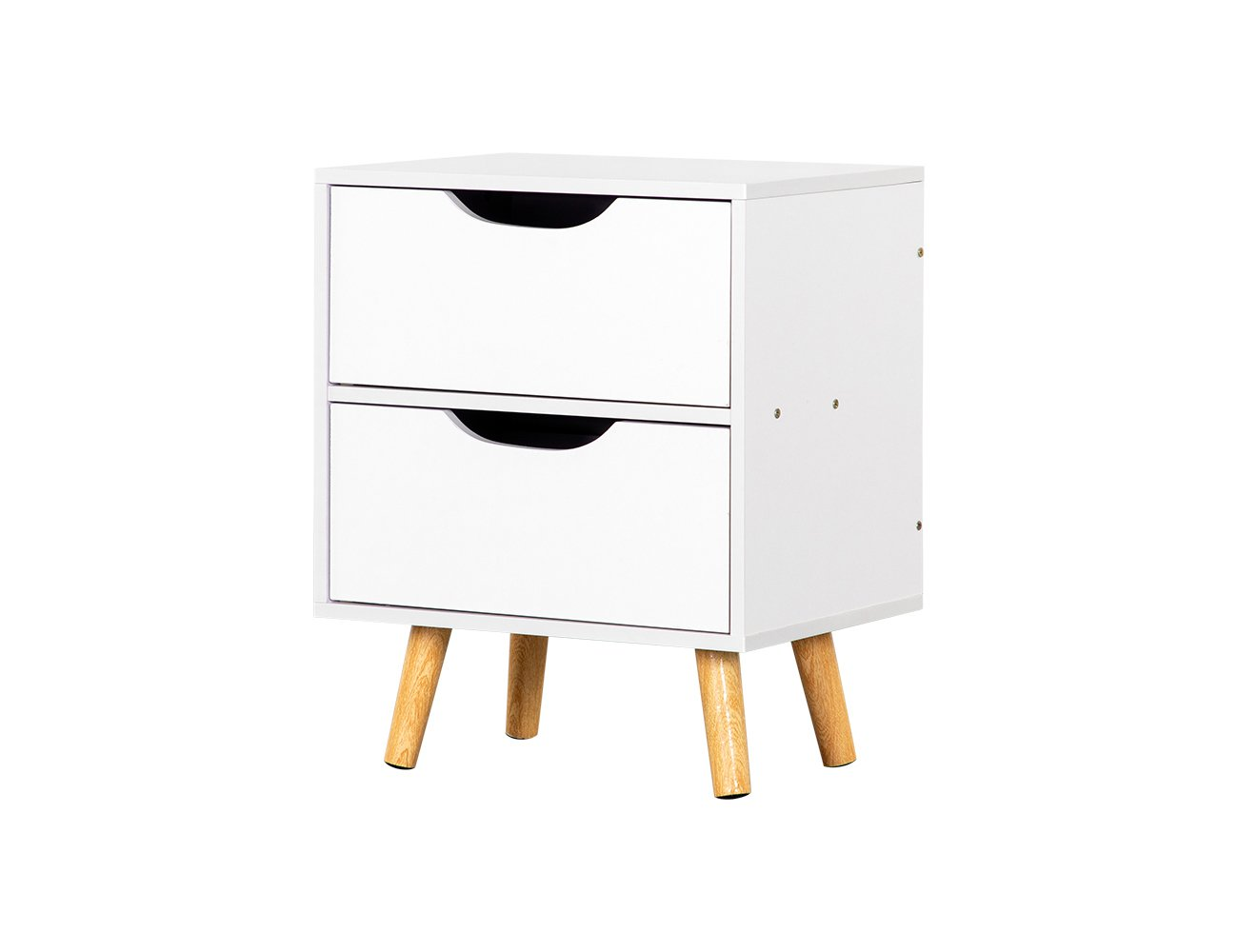 2 Level Bedside Table - White (Fully Assembled)
