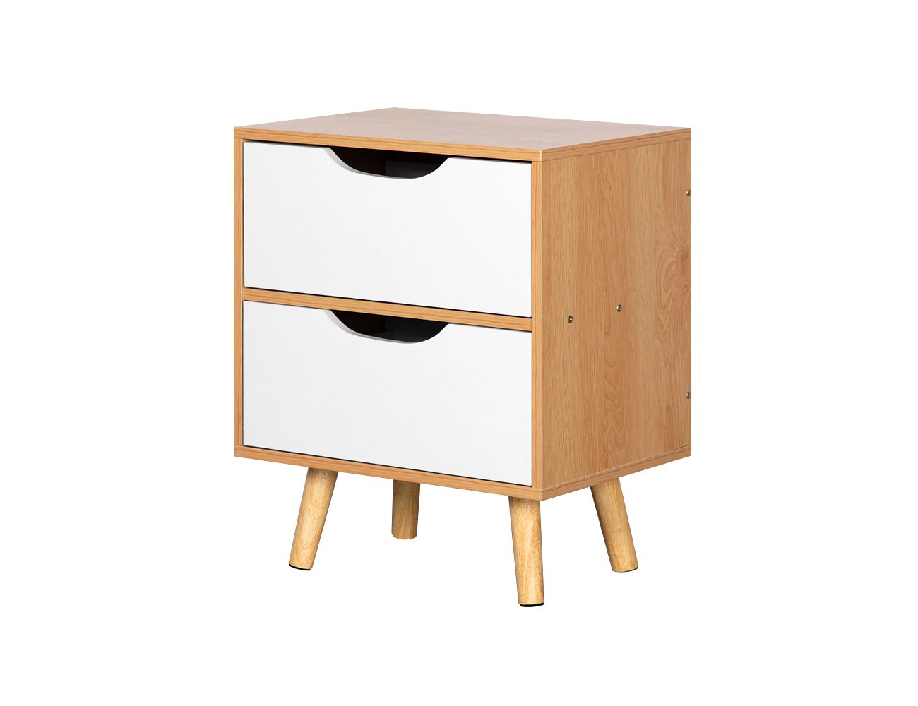 2 Level Bedside Drawers - Maple (Fully Assembled)
