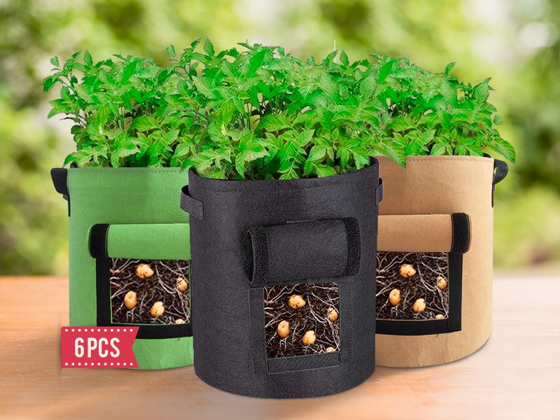 6pcs Plant Growing Fabric Bags