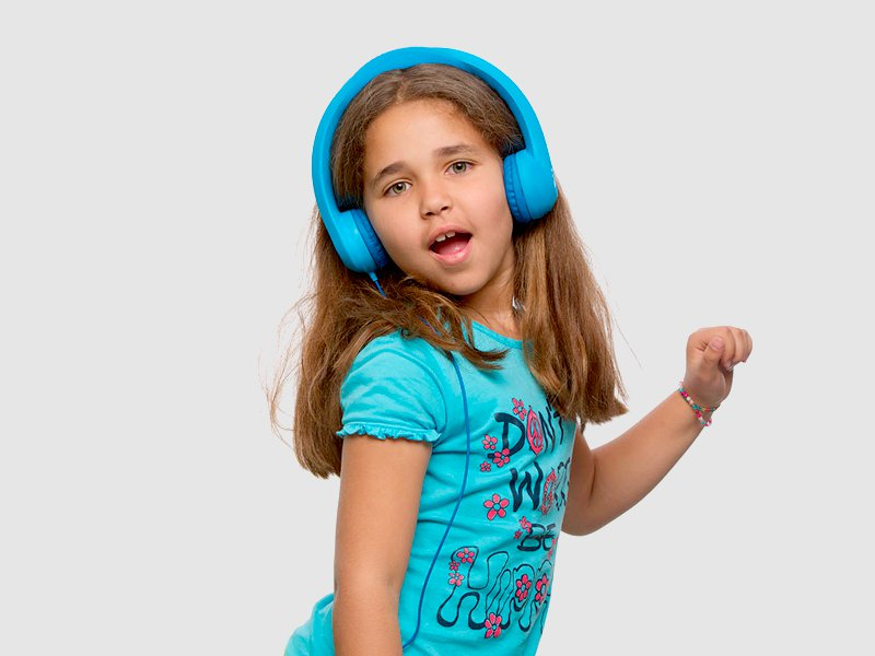 CHILD SAFE FLEXI HEADPHONES - BLUE