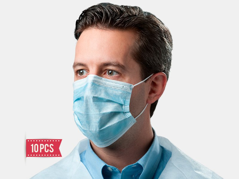 Medical Face Mask - 10 Pcs (Arrive by sea freight)