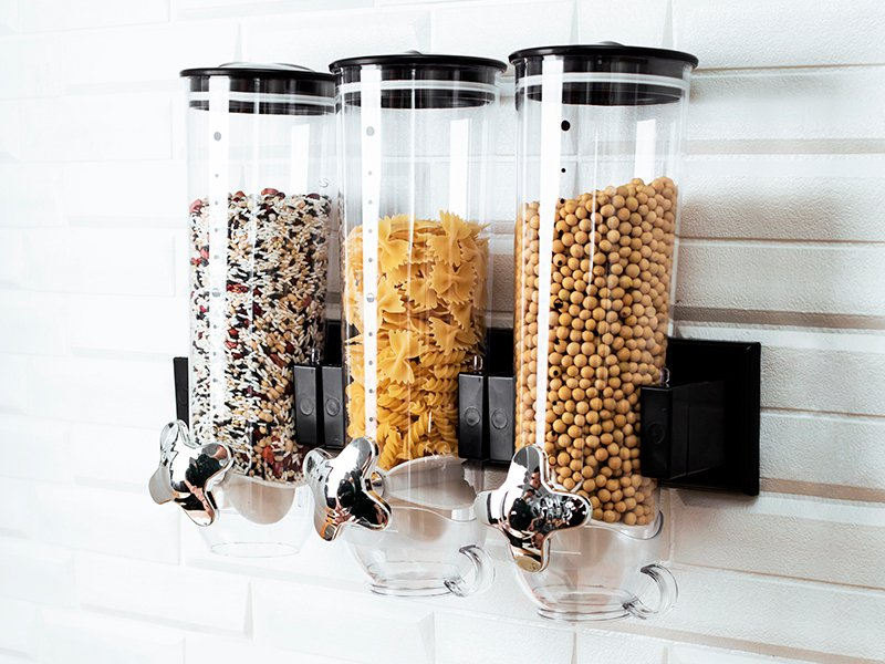 Wall Mount Triple Cereal Dispenser 4.5 Litre