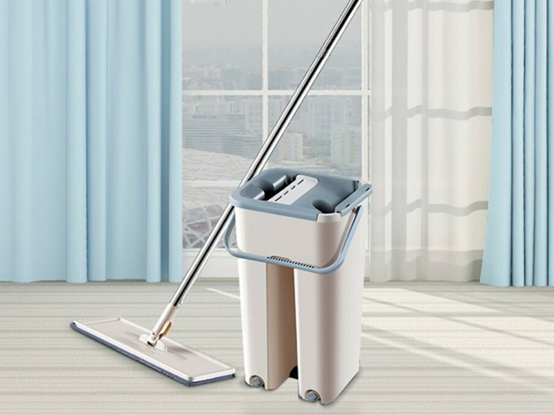 Self Cleaning Floor Mop Bucket Wet Dry