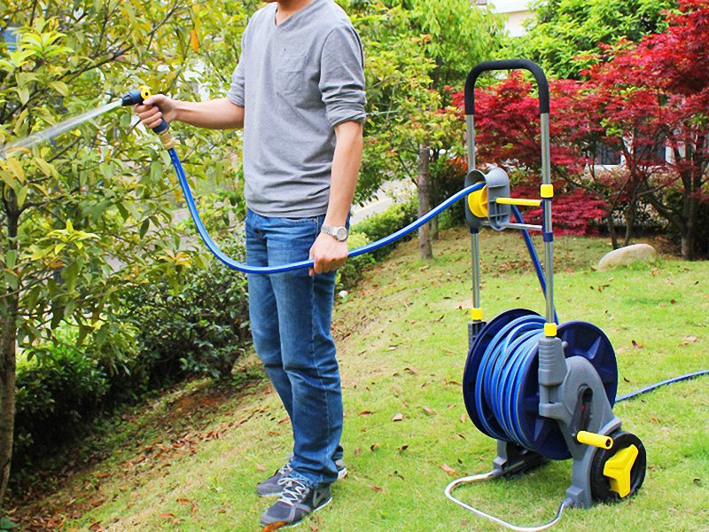 Portable Garden Water Hose Reel Cart Trolley