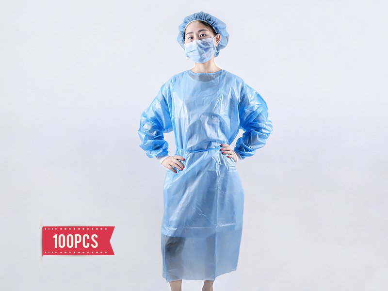 Disposable Isolation Gown - 100pc