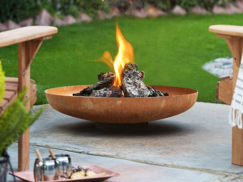 Outdoor Brazier Bowl Fire Pit 80cm