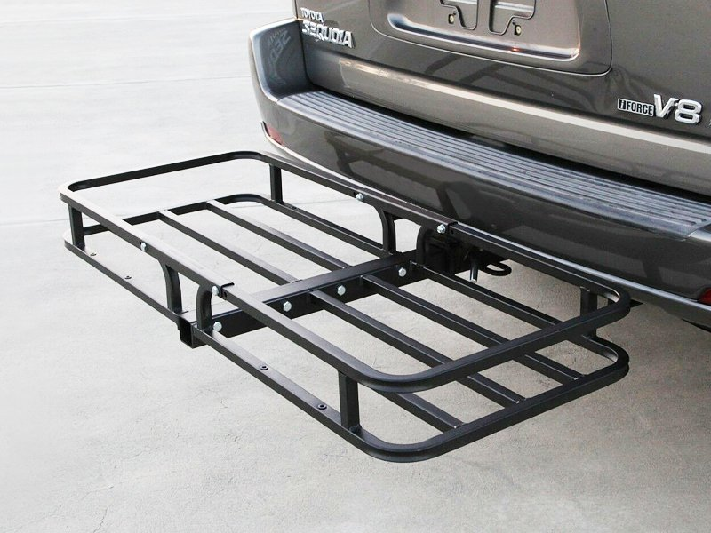 Car Cargo Rack Hitch Mount Carrier Folding Shank