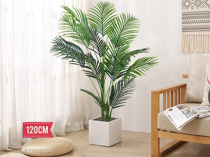 Artificial Palm Plant Pot