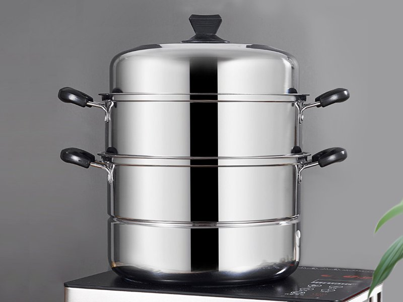 3-Tier Stainless Steel Steamer Cooker Set