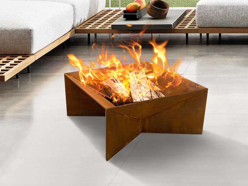 Fire Pit Brazier Bowl - Stylish Corten Steel
