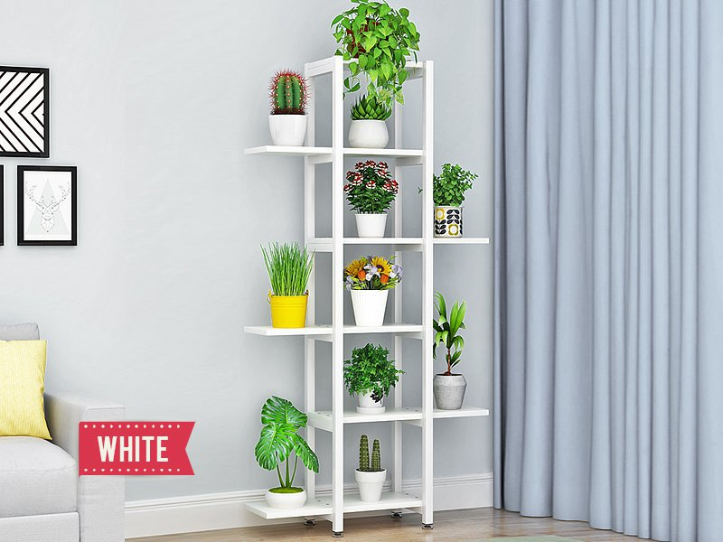 Multi-Level Plant Stand - White