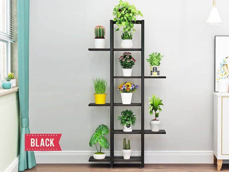 Multi-Level Plant Stand - Black