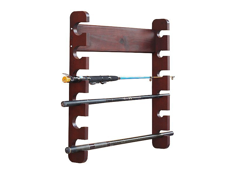Fishing Rod Rack Holder Display - Wall mounted