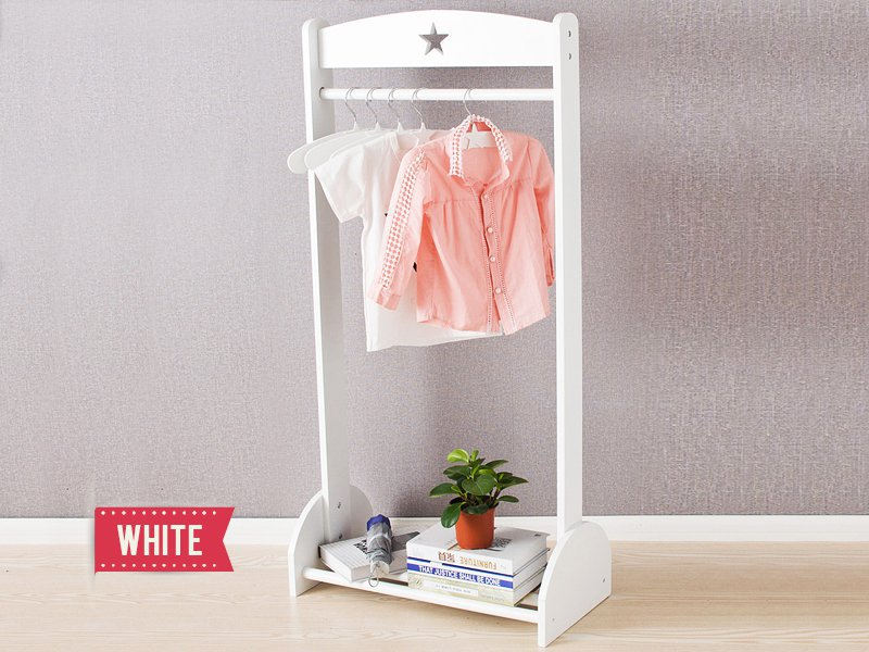 Handmade Wooden Clothes Hanger - White