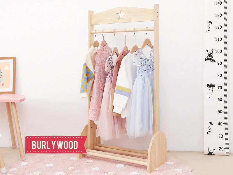 Handmade Wooden Clothes Hanger- Burlywood