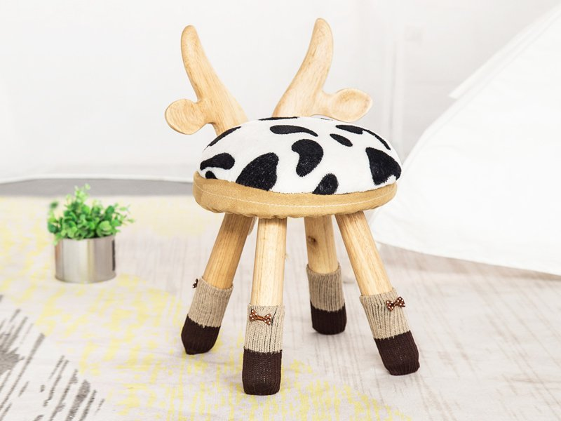 Kids Cow Wooden Chair