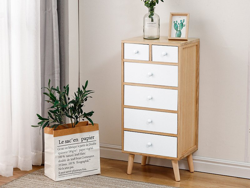5-Level Tallboy Bedside Drawer - White