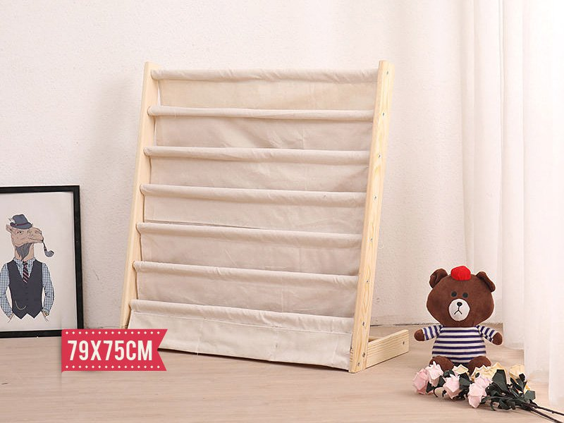 6 Tier Wooden Frame Children's Bookshelf